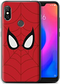 eSwish Gel TPU Phone Case/Cover for Xiaomi Redmi Note 6 Pro/Spider-Man Mask Inspired Design/Super Hero Comic Art Collection