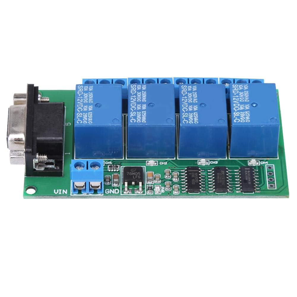 Relay 12V 4Ch DB9 RS232 Large half special price Board Remote Serial UART P Control