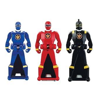 Power Rangers Super Megaforce - Dino Thunder Legendary Ranger Key Pack, Red/Blue/Black