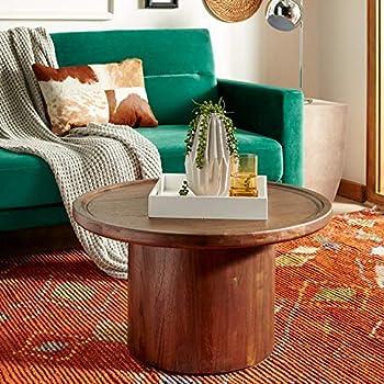 Safavieh Home Devin Dark Oak Pedestal Round Coffee Table