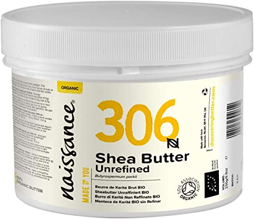 Naissance Manteca de Karité BIO n. º 306 – 250g – Pura, natural, certificada ecológicamente, sin refinar, elaborada d...