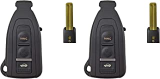 QualityKeylessPlus Replacement Smart Remote Case 3 Button Pad Uncut Slide Blade For Lexus LS430 HYQ12BZE (2)