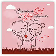 Yaya Cafe® Birthday Gifts for Girlfriend, Wife, Fridge Magnet Because a Girl Like You Impossible to Find - Square Valentine