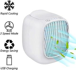 ZXYY Enfriador de Espacio Personal Enfriadores evaporativos USB - Humidificador y purificador Ventilador de enfriamiento de Escritorio 3 velocidades Enfriador evaporativo para dormitorios de ofic