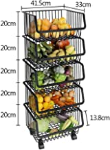 Vegetable and Fruit Storage Basket, Sundries Sorting Rack, Floor Multilayer Shelf for Kitchen, Storage