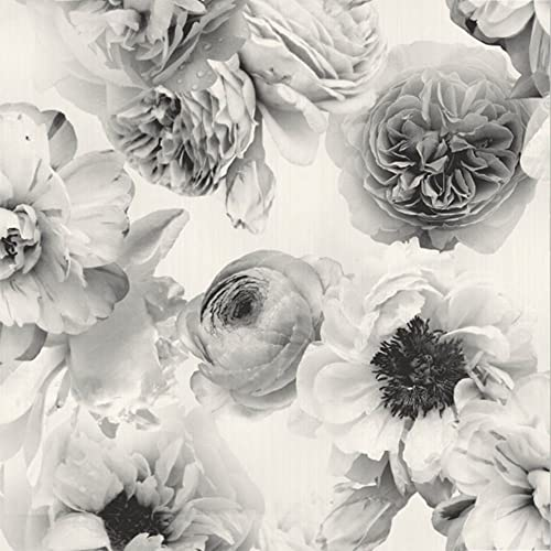 Black And White Floral Wallpaper Amazoncom