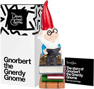 Dawn & Claire Gnorbert The Gnerdy Gnome A Garden Gnome with a Nose for The Books! (Mini - 6.3
