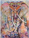 FUSHX tapizTapiz de Elefantes psicodélicos nórdicos, Tapiz Colgante de Pared, Estilo Hippie, brujería, Tarot, Ciencia ficción, decoración para el hogar
