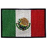 EmbTao Drapeau du Mexique Brodé à Repasser ou à Coudre Patch