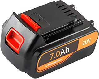 huibatt LBXR20 7000mAh Replace for Black and Decker 20V Battery 20 Volt MAX Lithium Ion LBXR20 LB20 LBX20 LBXR2020-OPE LBXR20B-2 LB2X4020