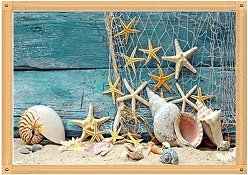 clásico atemporal XIGZI DIY Diamond Bordado Playa Shell Sea Star Conch Paisaje Paisaje Paisaje Diamante Pintura Mosaico Decoración del Hogar Foto Sin Marco  en linea