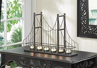 INDUSTRIAL Suspension San Fransisco City Golden Gate Bridge SHABBY CANDLE HOLDER