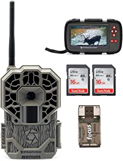 Stealth Cam GXATW AT&T Wireless Cellular 22MP Trail Camera/w Two Focus USB 16GB Memory Card, Reader and Viewer Bundle