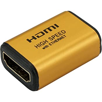 ホーリック HDMI中継アダプタ ゴールド HDMIF-027GD