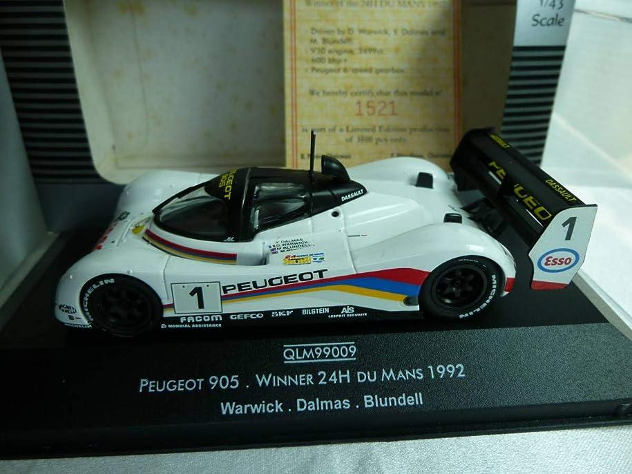 オセアニア永久最初にカルツォ 1/43 プジョー 905 Winner Lemans 1992