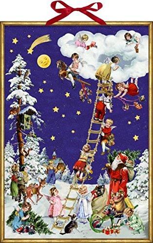 Wand-Adventskalender - Nostalgische Himmelsleiter