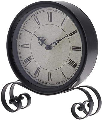 Bomcomi 18.5x15x4CM clásico Reloj de Escritorio de Bell por Mesa ...