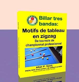Billar tres bandas - Motifs de tableau en zigzag: De tournois de championnat professionnel (French Edition)