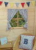 Playhouse Vorhänge ~ Flower Garden ~ mit Bindebändern & Beschläge ~ Wendy House Dekoration