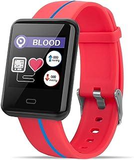 Caige Fitness Tracker Monitor de Ritmo cardíaco Reloj Inteligente Impermeable Smart Fitness podómetro calorías Contador de