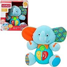 Winfun - Peluche Elefante para bebés que habla & luces de colores - Idioma: español (ColorBaby 85178)