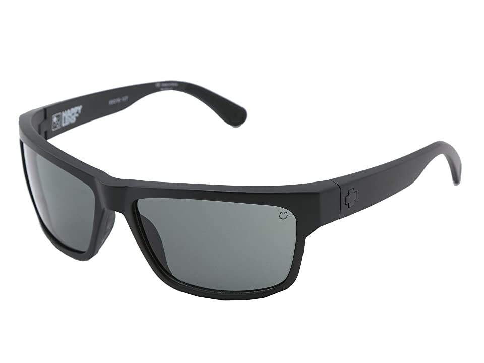 Spy Optic Frazier (Happy Lens) (Matte Black Happy Grey Green) Sport Sunglasses