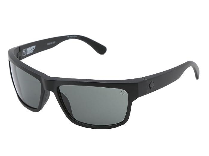 Spy Optic Frazier (Happy Lens) (Matte Black Happy Grey Green) Sport Sunglasses
