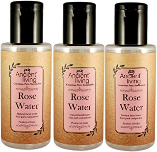 Ancient Living Organic Rose water - Set of 3-100 ml each