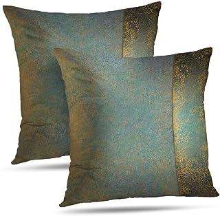WAYATO Set of 2 Pillow Case Cotton Polyester Blend Throw Pillow Covers Serene Teal Blue..
