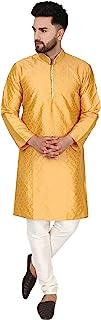 SKAVIJ Kurta Pajama Set for Men Art Silk Indian Wedding Party Dress