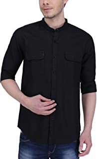Southbay Black Full Sleeve Linen Cotton Casual Shirt for Men