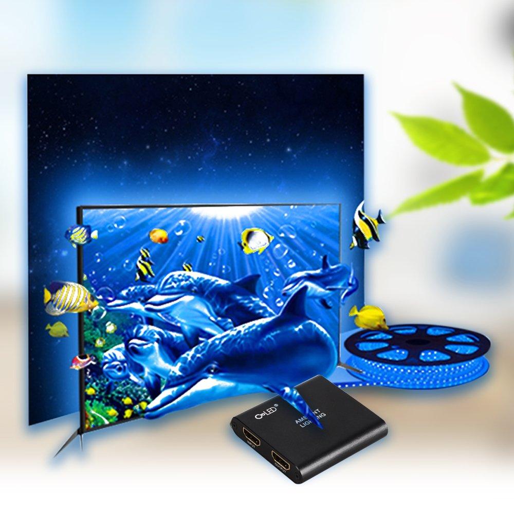CroLED Sistema Ambilight para TV Tira LED de 5M con 150 RGB para ...