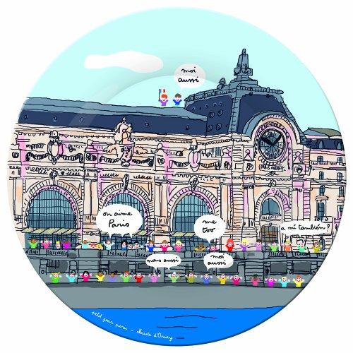 Petit Jour Paris Assiette à Dessert Motif Musée d'Orsay Multicolore