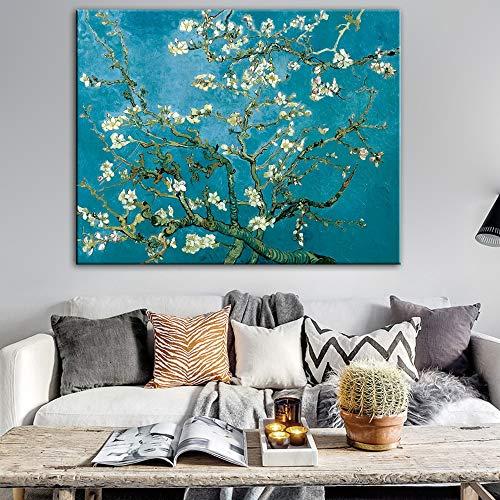 Impressionist Amandel bloem canvas muurkunst drukgrafiek schilder kopie woonkamer beroemd canvas kunst schilderij frameloos schilderwerk