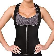 Reflective Running Sweat Sauna Vest, Women Waist Trainer Corset Neoprene Tank Top for Weight Loss Slimming Body Shaper