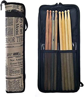 Water-Resistant Percussion Drum Stick Bag Holder Mallet Bag Drumstick Bag with A Detachable Shoulder Strap, for Mallets, Brushes and Other Common Accessories As Well