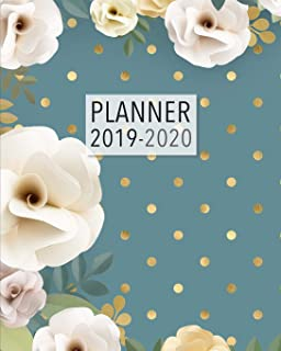 Planner 2019-2020: 18 Month Academic Planner. Monthly and Weekly Calendars, Daily Schedule, Important Dates, Mood Tracker, Goals and Thoughts all in One! Polka Dot Floral Cover.