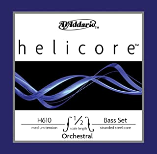 D'Addario Helicore Orchestral Bass String Set, 1/2 Scale, Medium Tension