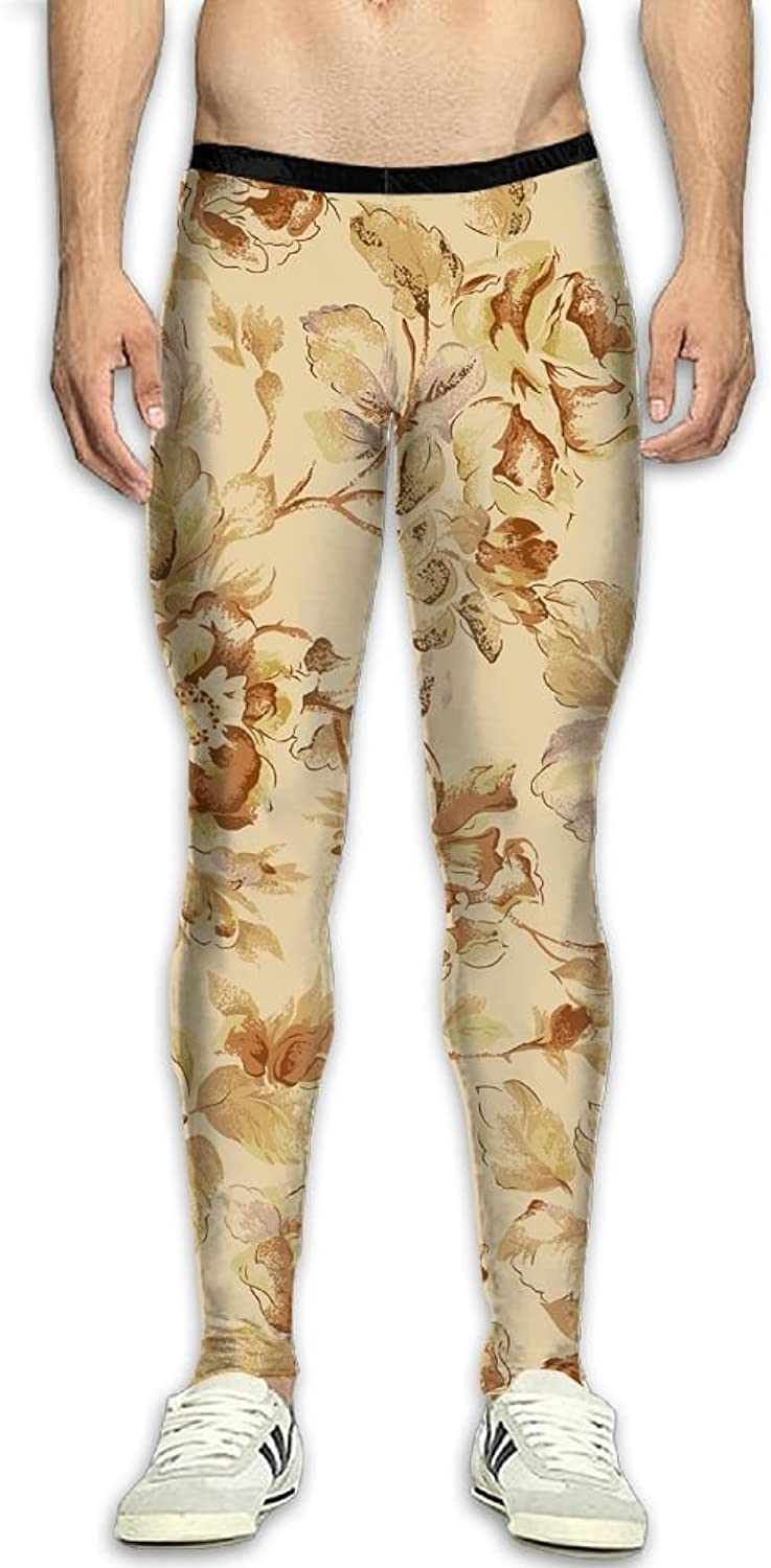 0672d2e2bf Compression Pants Vintage Flowers Pattern Leggings Tights Bodybuilding Long  Sports Sports Sports Workout Yoga GYM Running Fitness For Men 0215b8