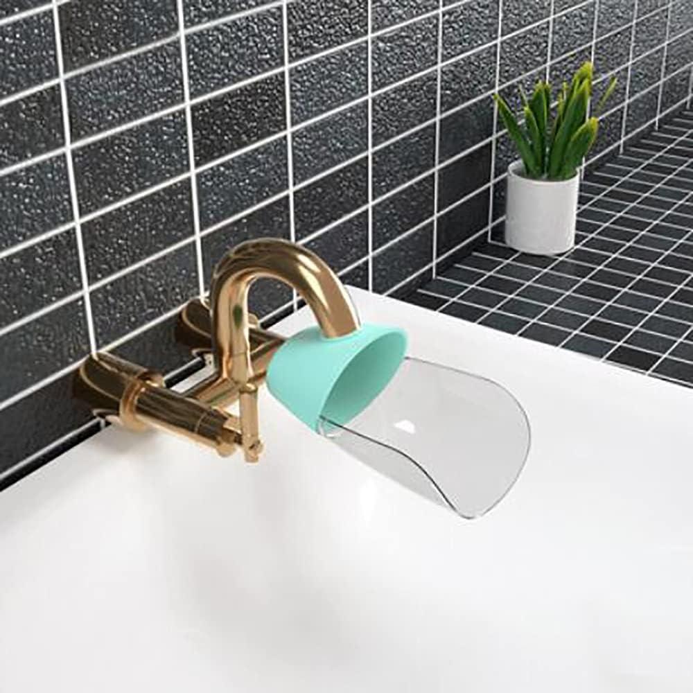 Faucet Extender,Bath Spout Extender Plus Cover,Sink Handle Extender, Safe Fun Hand-Washing Solution for Babies, Toddlers, Kids, Children,Teach Your Kids Good Sanitation Habits, Set of 2(random color)