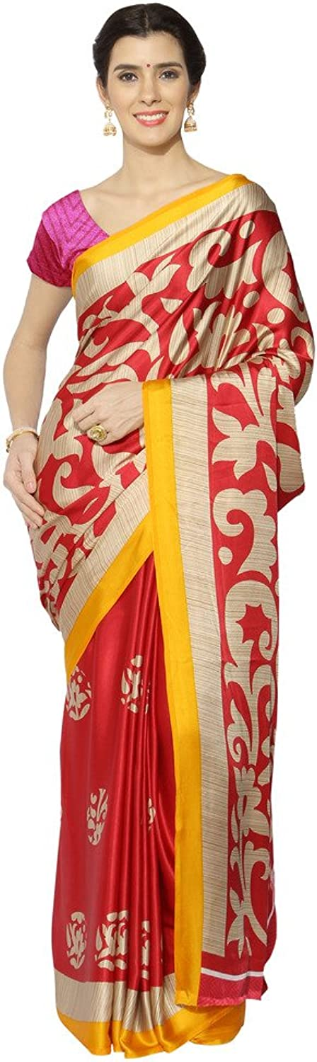 Applecreation Crepe Silk Saree (Sarees For Women's Party Wear Jpq5827A_Pink)