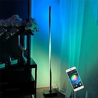 Lámpara de Pie LED Regulable Luz de Pie Inteligente WiFi Lámpara de Suelo Multicolor Lámpara de Salón 20W RGB Inteligente Control Táctil, con Interruptor y Enchufe Dormitorio Lámpara de Lectura