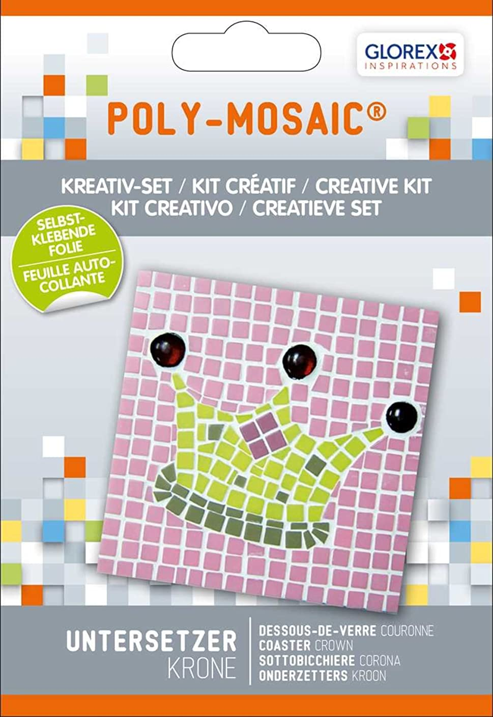 Glorex Poly Mosaic Creative Set, Plastic, Multicoloured, 17?x 11.6?x 1?cm