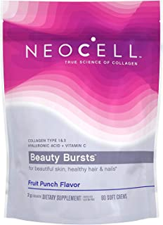 Neocell Beauty Bursts Gourmet Collagen Soft Chews Super Fruit Punch 60 Soft Chews