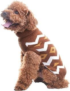 PUPTECK Dog Sweater Diamond Pattern Pet Festive Coat Puppy Winter Clothes