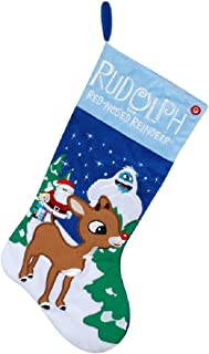 Gemmy 21 Inch Rudolph The Red-Nosed Reindeer Musical Christmas Stocking
