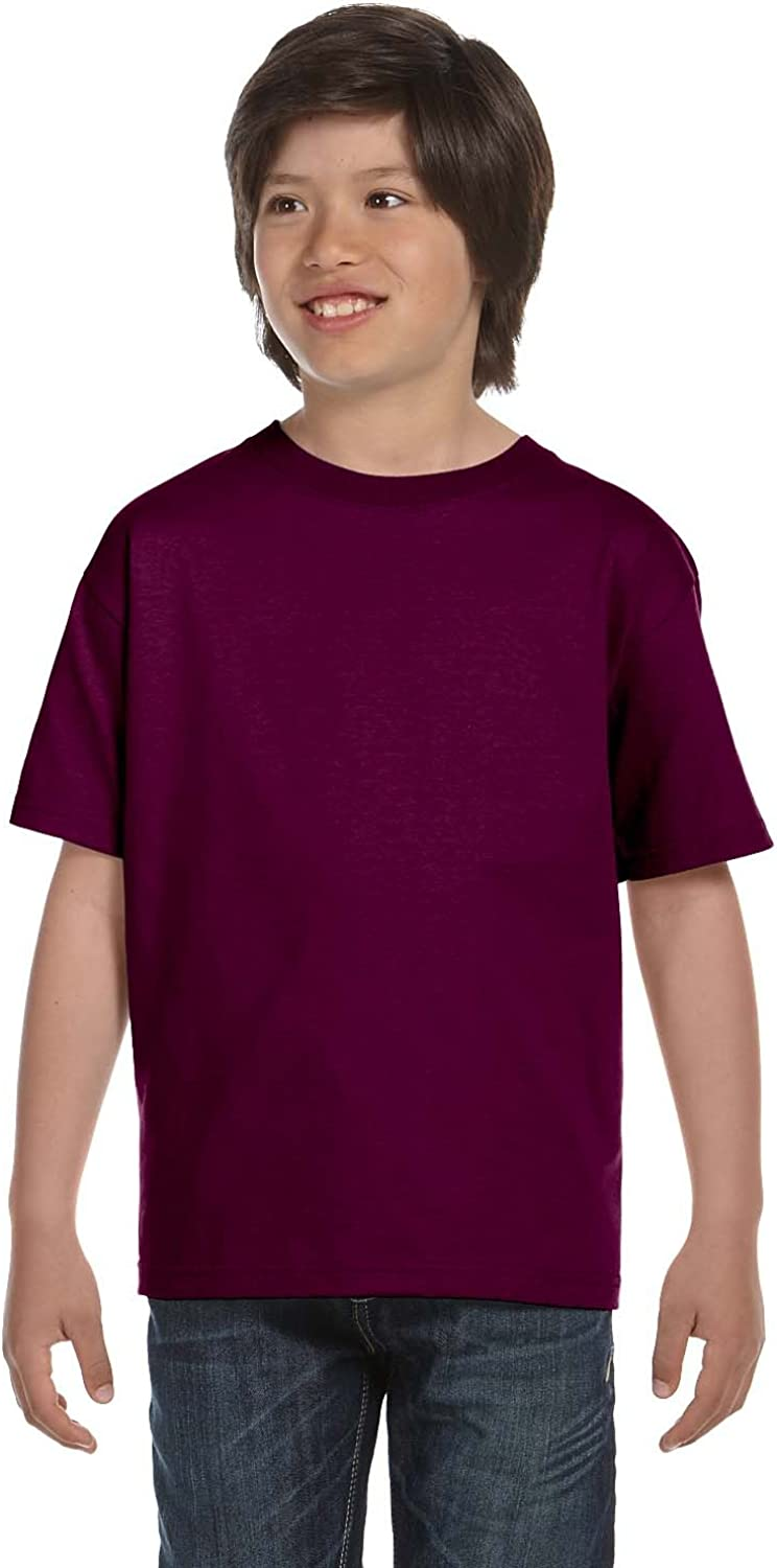 Product of Brand Gildan Youth DryBlend 56 oz, 50/50 T-Shirt - Maroon - L - (Instant Savings of 5% & More)