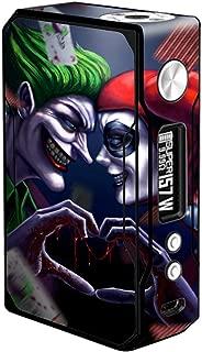 Skin Decal Vinyl Wrap for Voopoo Drag 157W TC Resin/Reg. Vape Mod stickers skins cover/Harleyquin and Joke love