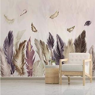 Wallpaper Wall Mural,3D Hd Print Self-Adhesive Wall Murals, Nordic Modern Abstract Art Feather Wallpaper Wall Murals Decal...