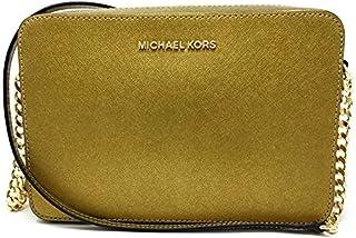 حقيبة طويلة تمر بالجسم مايكل كورس للنساء (ذهبي قديم)